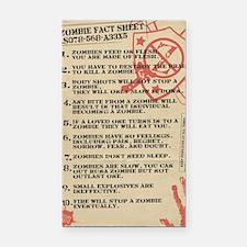 zombie-fact-sheet Rectangle Car Magnet