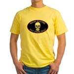 Rugby Eat Their Dead Yellow T-Shirt