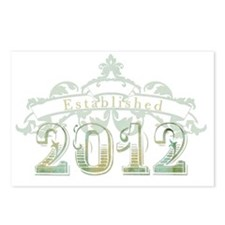Established 2012 Postcards (Package of 8)