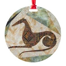 Tribal Square Round Ornament