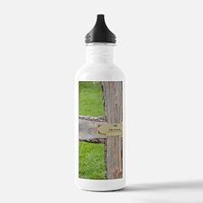 Hand-hewn wooden cross Water Bottle