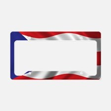 puerto_rico_flag License Plate Holder