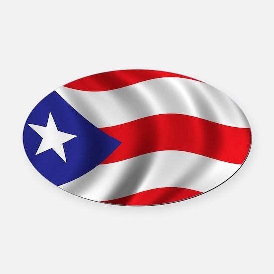 puerto_rico_flag Oval Car Magnet