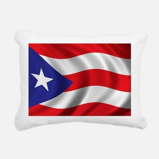 puerto_rico_flag Rectangular Canvas Pillow