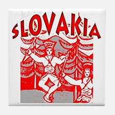 janoslovak-red Tile Coaster