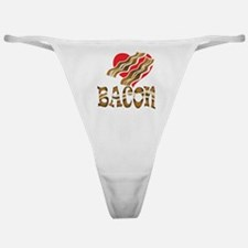 I Love Bacon White Classic Thong