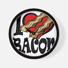I Love Bacon 2 Wall Clock
