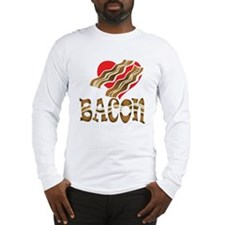 I Love Bacon White Long Sleeve T-Shirt