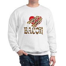 I Love Bacon White Sweatshirt