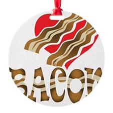 I Love Bacon White Ornament