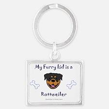 Rottweiler Landscape Keychain