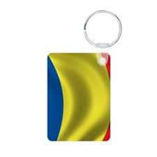 romania_flag Aluminum Photo Keychain