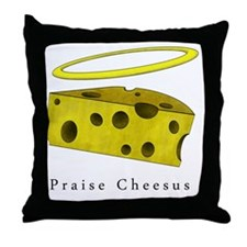 PraiseCheese_Lightshirt Throw Pillow