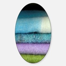 Colorful wool scarves. Decal