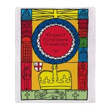 Respect Excellence Friendship London Throw Blanket