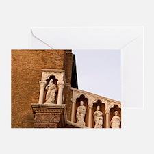 Venice. Statue details of Madonna de Greeting Card