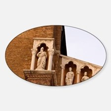Venice. Statue details of Madonna d Sticker (Oval)