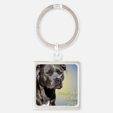 Cover Beans Square Keychain