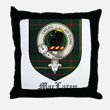 MacLaren Clan Crest Tartan Throw Pillow