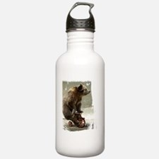 bear on tricycle10 Water Bottle