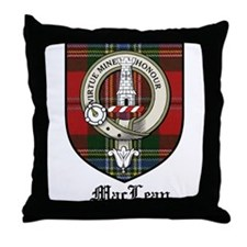 MacLean Clan Crest Tartan Throw Pillow