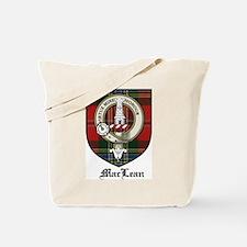 MacLean Clan Crest Tartan Tote Bag