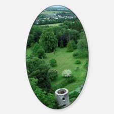 Blarney Castle. Overview from castl Decal