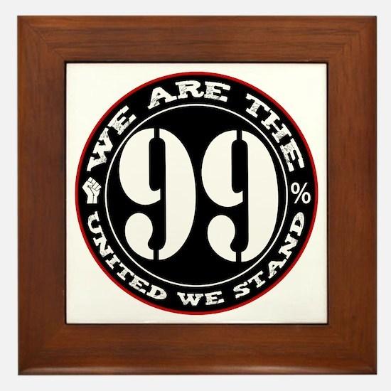 wearethe99percent3-white Framed Tile