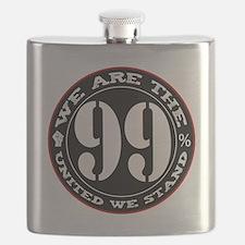 wearethe99percent3-white Flask