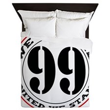 The 99% United We Stand-black Queen Duvet