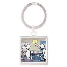 Great Moments: Great Idea Square Keychain