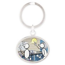 Great Moments: Great Idea Oval Keychain