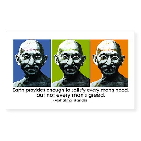 Earth provides Rectangle Sticker