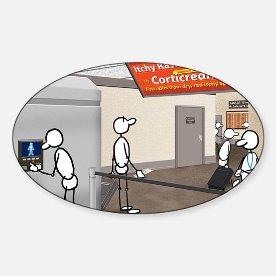 Great Moments: Airport Security Sticker (Oval)