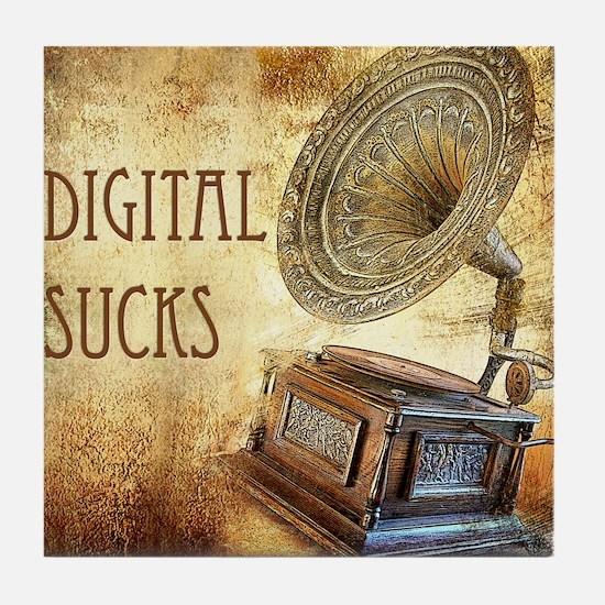 Digital Sucks Tile Coaster