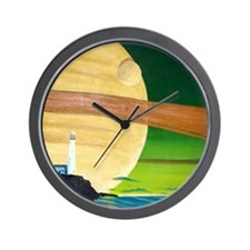 Saturn at Sea-ipad Wall Clock