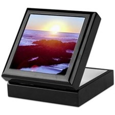 California Coast Sunset Keepsake Box