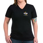 GSA Pocket ToonA Women's V-Neck Dark T-Shirt