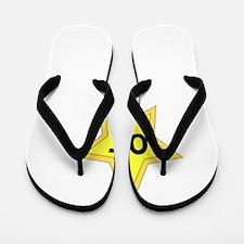 FBC Star Of Moms Blog White Flip Flops