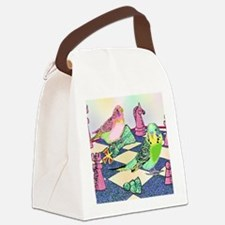 Chess Budgies (Note Card) Canvas Lunch Bag