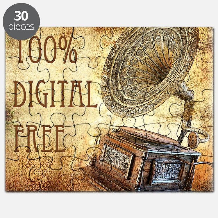 100% Digital Free Puzzle