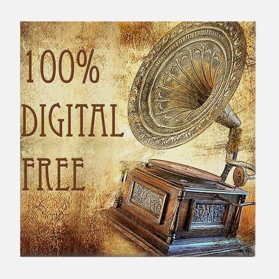 100% Digital Free Tile Coaster