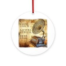 100% Digital Free Round Ornament
