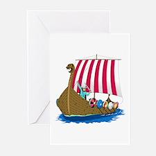 Viking Ship Greeting Cards (Pk of 10)