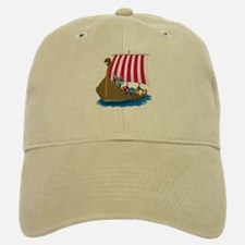 Viking Ship Baseball Baseball Cap