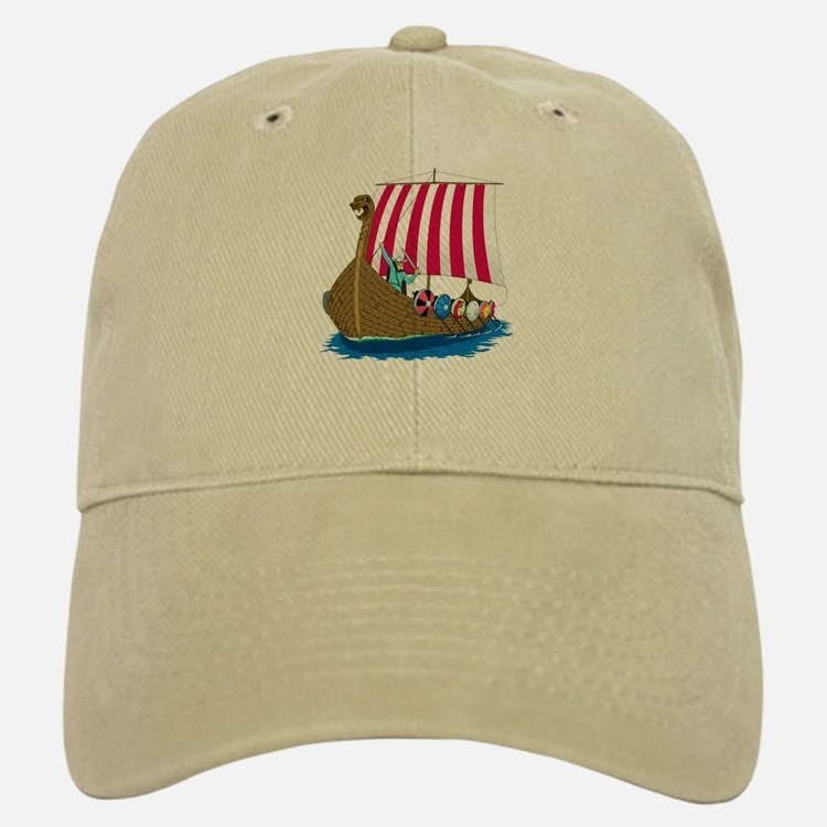 Viking Ship Baseball Baseball Cap