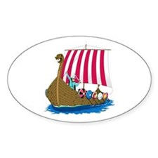 Viking Ship Oval Decal