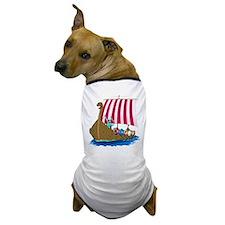 Viking Ship Dog T-Shirt