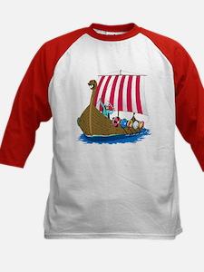 Viking Ship Kids Baseball Jersey