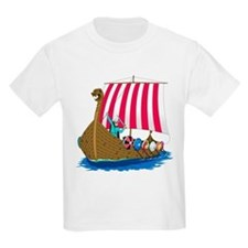 Viking Ship Kids T-Shirt